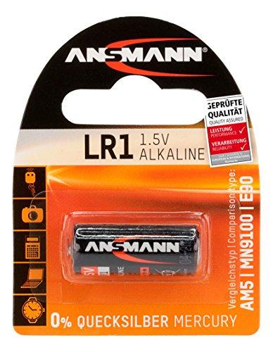ANSMANN Alkaline Batterie LR1 (1,5V) für Garagentoröffner, Alarmanlage, Funkauslöser für Kamera, Messgeräte, Klingel usw.