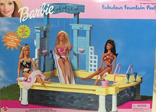 Barbie Fabulous Fountain Pool Playset (1999 Arcotoys, Mattel)