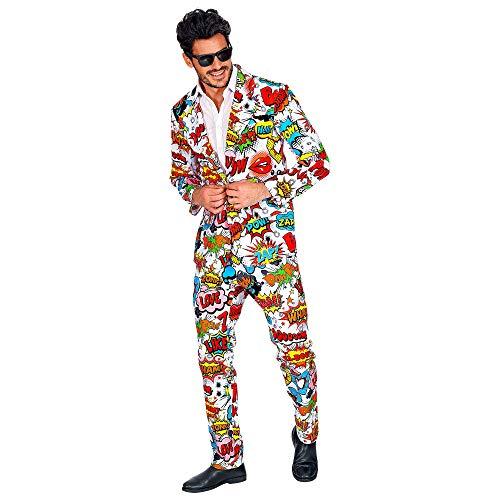 WIDMANN 09353 - Disfraz pop art para hombre, varios colores, talla L , color/modelo surtido