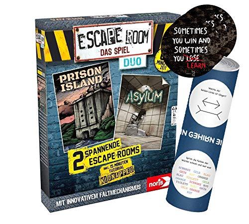 Collectix Escape Room Das Spiel Duo - Juego de mesa a partir de 16 años, incluye 3 pegatinas de salida y 1 póster de ilusión óptica