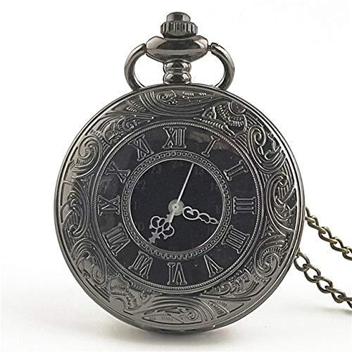 Vintage Ketten Taschenuhr,Rom Zahlen Antike Runde Zifferblatt Quarz Taschenuhr Halskette Anhänger Clock Mens Frauen Mechanische Taschenuhren
