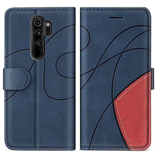 SUMIXON Hülle für Xiaomi Redmi Note 8 Pro, PU Leder Brieftasche Schutzhülle für Xiaomi Redmi Note 8 Pro, Kratzfestes Handyhülle mit Kartenfächern & Standfunktion, Blau