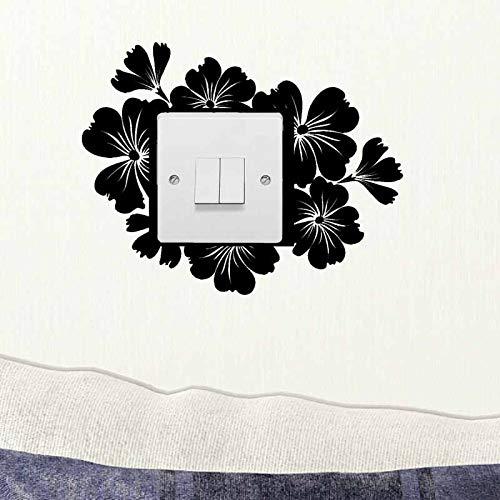 Pegatinas de pared para interruptor de luz, color negro