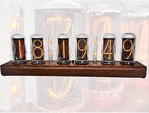 AACXRCR Nixie Tube Reloj Simulation, LED Reloj Digital LED Control de Bluetooth, Relojes de Alarma Digital Tiempo de Voz, Regalo de decoración de Escritorio