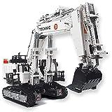 FYHCY Technical 1:17 Liebherr R 9150 Kit de construcción de Excavadora, aplicación y Modelo de Excavadora de Control Remoto de 2,4 GHz Compatible con Lego Technic (4342 Piezas)