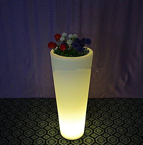 Gowe Recharger télécommande sans fil étanche Multi Couleur LED Lumineux Pot de fleurs de meubles lumineux, LED lumineuse Pot de fleurs
