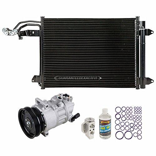 A/C Kit w/AC Compressor Condenser & Drier For Volkswagen VW Jetta Golf GTI Rabbit & Audi TT RS - BuyAutoParts 60-82657R6 New