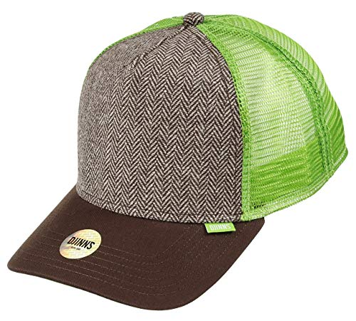 Djinns - Tweed Combo (Brown) - High Fitted Trucker Cap