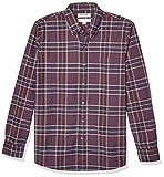 Amazon Brand - Goodthreads Men's Standard-Fit Long-Sleeve Plaid Oxford Shirt, Purple Red Tartan, Small