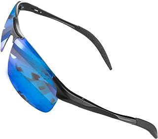 CHEREEKI Occhiali da Sole, Occhiali da Sole da Uomo e Donna Polarizzati con UV400 Protezione per Guida Sci Golf Corsa Cicl...