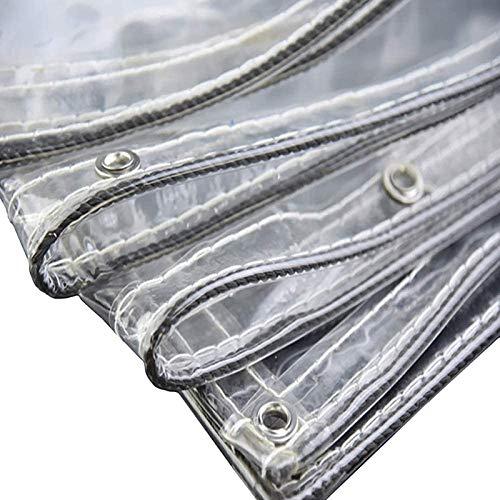Hoja de Lona Transparente Impermeable Paño Transparente Resistente A la Lluvia Cubierta de Lona Plegable Resistente Al Desgarro PVC de 0,3mm para Muebles de Jardín Al Aire Libre
