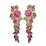 Oyfel Patch Ecusson Brodé Thermocollant Couture Main Coudre Art Lot Fleur 2 Pcs