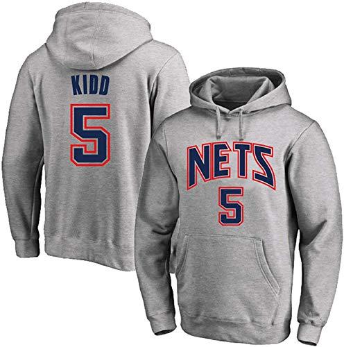 Sudadera con capucha para jóvenes, Jason Kidd 5# de la NBA, sudadera deportiva de manga larga, unisex, el mejor regalo de cumpleaños S-3XL, unisex (color: D, talla: L)