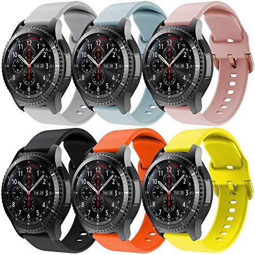 YPSNH Compatibile per Samsung Gear S3 Cinturino dell'orologio 22mm Cinturino di Ricambio in Silicone Cinturino Sportivo per Gear S3 Frontier/Gear S3 Classic/Galaxy Watch 46mm/Galaxy Watch 3 45mm