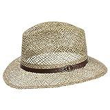 Lipodo Sombrero de Paja Farmer Hombre - Made in Italy Sol Verano Playa con Banda Piel...