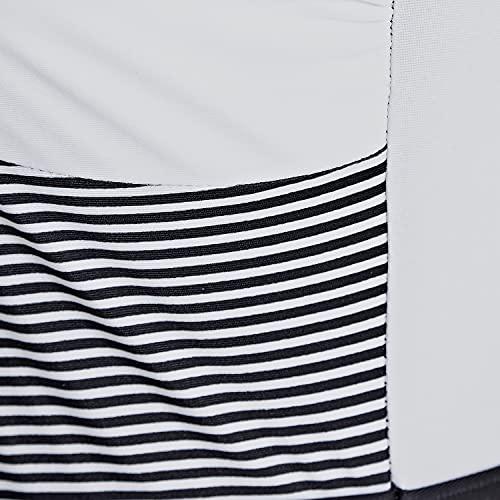 Zoggs Sunrise Squarebk Wrap Front Traje de Bao de una Sola Pieza, Negro/Rayas, 42 para Mujer