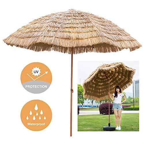 LXLA Sombrilla Jardin Sombrilla de Playa de 240 cm / 8 pies, Sombrillas de Mesa de Mercado al Aire Libre con manivela y Ajuste de inclinación, Parasol para jardín/Patio/Piscinas/terraza