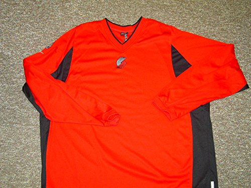 Jeff McInnis Portland Trailblazers Long Sleeve Game Worn Shooting Shirt
