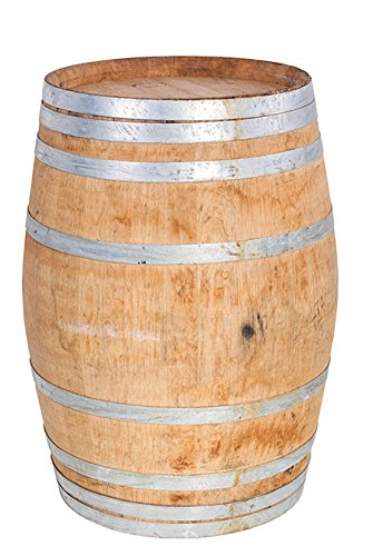 "MGP Master Garden Products WB-35 Oak Wood Whole Wine Barrel, 26"" D x 35"" H, Tan"
