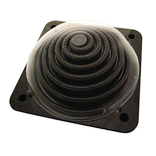 Solar Heizung Dome Pool 5 Liter, für Pools bis 7000 Liter, schwarz, 57cm x 57cm, Poolheizung Solarheizung Solarabsorber 8005