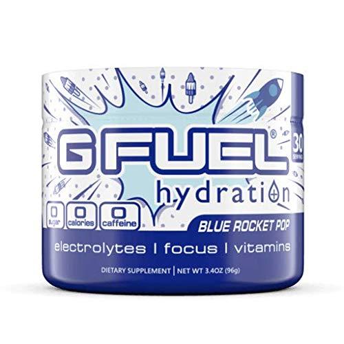 G Fuel Hydration Blue Rocket Pop Tub (30 Servings) Elite Hydration Powder 3.4oz
