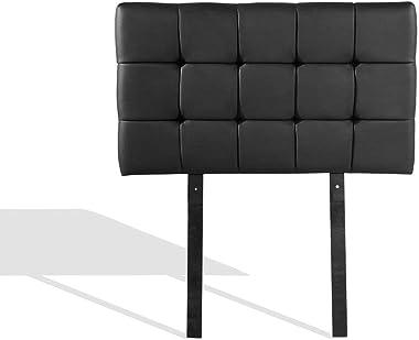 PU Leather Single Bed Deluxe Headboard BedHead - Black