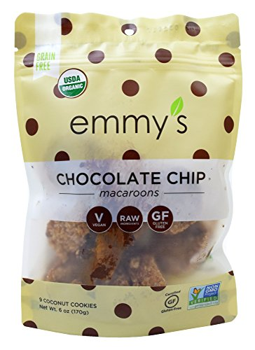 Emmy's Organics, Coconut Cookies - Chocolate Chip, 6 oz (Pack of 2)