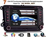 iFreGo 2 Din Touch Screen 7 pollici autoradio HD per VW Tiguan EOS Caddy Polo Jetta Golf, lettore DVD di navigazione GPS, supporto Canbus, SD/USB, BluetoothAutoradio