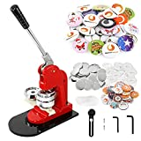 BEAMNOVA Button Maker Machine DIY Round Pin Maker Kit, 58mm / 2.28 in (About 2-1/4 Inch) Badge Press Machine with 1000 Button Parts Supplies
