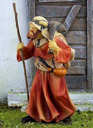 Krippenshop Kameltreiber aus Polyresin, handbemalt. Zu 11 cm Krippenfiguren,Weihnachtskrippe