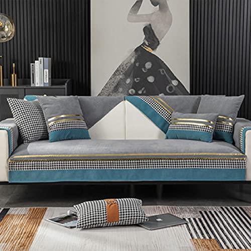 Fsogasilttlv Fundas de Almohada Decorativas Fundas de cojín Modernas para Exteriores Fundas de Almohada de Lujo para sofá Cama Gris Azul 18 * 18 Inch