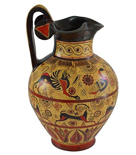Estia Creations Minoan Pottery Oinochoe-Amphora-Vase, antikes Griechenland, handgefertigt in Griechenland
