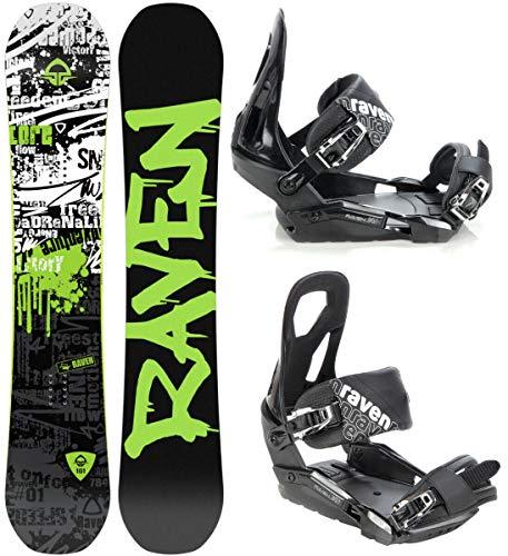 Raven Snowboard Set: Snowboard Core Limited 2019 + Bindung s240 (166cm Wide + s240 Black M/L)