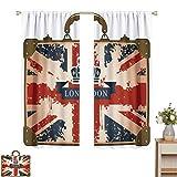 Toopeek Union Jack - Maleta de viaje con diseño de bandera británica de Londres y corona (2 paneles)
