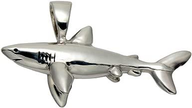 Wild Things Stainless Steel Great White Shark Pendant