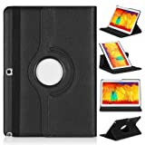 Samsung Galaxy Note 10.1 2014 Edition Case - Topratesell 360 Degree Rotating Case for Note 10.1 Inch 2014 Edition Tablet (Black)