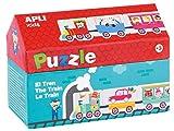 APLI Kids- Tren Puzle Casita, 20 Piezas, Multicolor (16485)