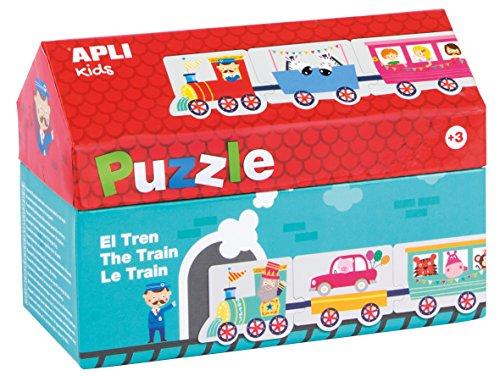 APLI Kids- Tren Puzle Casita, 20 Piezas, Multicolor (16485) (Juguete)