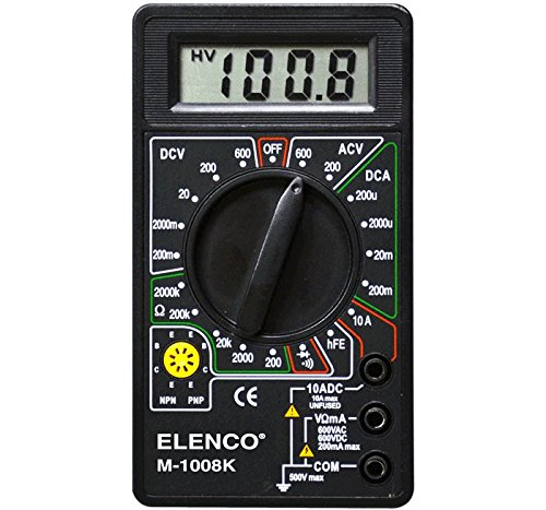 Elenco M-1008K - Digital Multimeter Solder Kit | Lead Free Solder | Great STEM Project | Soldering Required