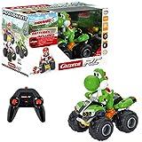 Carrera RC Nintendo Mario Kart 8 Yoshi Quad │ Ferngesteuertes Auto ab 6 Jahren für drinnen & draußen │ Mini Mario Kart Auto mit Fernbedienung zum Mitnehmen │ Spielzeug für Kinder & Erwachsene -