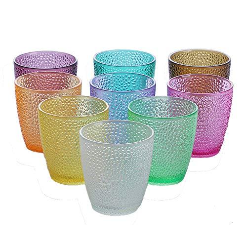 MINGZE Vasos De Plástico Acrílico, Irrompibles Apilables Colores Copas Bar Vaso De...