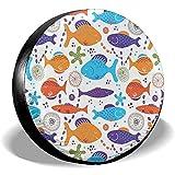 Alice Eva Reifendecke Ocean Sea Aquatic World Coral Fish Animals Polyester Universal Reserverad-Reifendecken