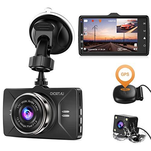 Dash Cam Front and Rear GPS Full HD 1080P CHORTAU,Dual...