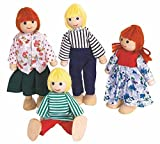 Woodyland CASA DE MUÑECAS muñecas muñecas Familia Taberna 4 Muñequitas MUÑECA DE Madera Woody