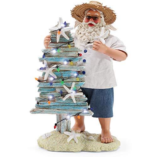 Department 56 Possible Dreams Santa by The Sea Seaside Christmas Figurine, 11 Inch, Multicolor