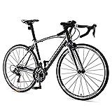 16 Speed Rennrad, Männer Frauen-Straßen-Fahrrad, Aluminiumrahmen Ultra-Light Fahrrad, 700 * 25C Räder, ideal for unterwegs oder Dirt Trail Touring, Silber, Advanced FDWFN