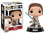 "Funko 9618 Star Wars 9618 ""POP Bobble E7 TFA Rey w/ Lightsaber"" Action Figure..."