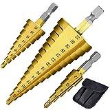 Set di Punte a Gradini Kit di 3 Punte Tonde HSS punte in titanio 4-12/4-20/4-32 mm Trapano...