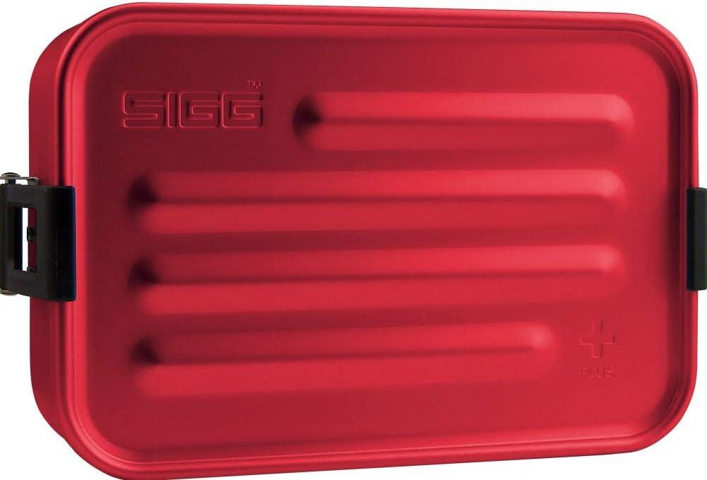 Sigg Metal Box Plus S - Caja de Metal, Color Rojo