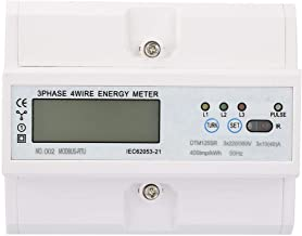 Electric Power Meter,220/380V 10-40A Energy Consumption Digital Electric Power Meter 3 Phase KWh Meter with LCD